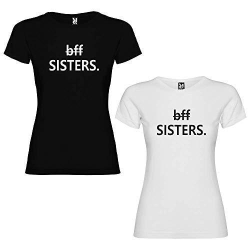 Dalim Pack de 2 Camisas para Hermanas BFF Sister (Mujer Tamaño S + Mujer Tamaño S)