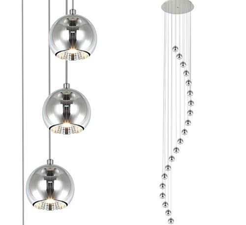 3m lunga grande XXL lampada sospensione pendente led lampadario spirale leggera luce Ø50 cm Lewima Snak