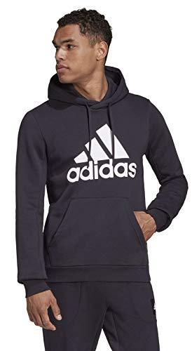 FD00Y|#Adidas Mh Bos Po Fl Nero, Felpa Con Cappuccio Uomo, M