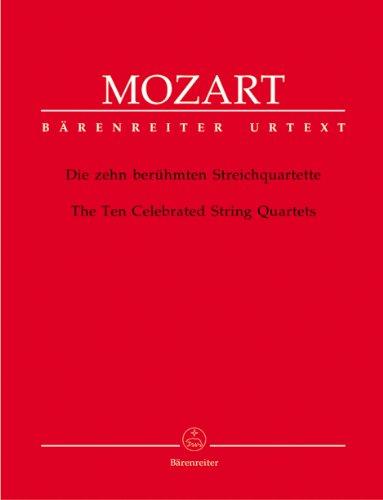 Die zehn berühmten Streichquartette. The Ten Celebrated String Quartets. Stimmensatz, Urtextausgabe, Sammelband. BÄRENREITER URTEXT