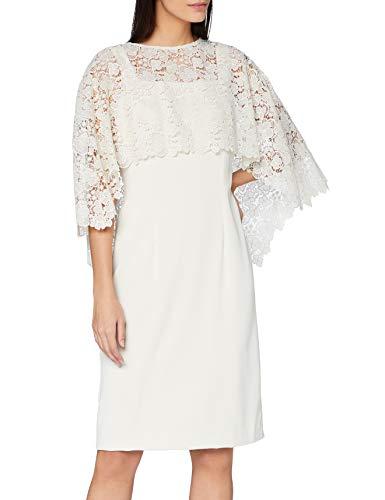 Gina Bacconi Women's Catriona Crepe Dress with Lace Overcape Vestido para Madre...
