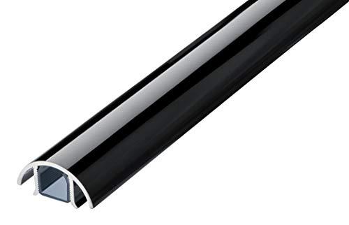 Mini Design Aluminium Kabelkanal für z.B. Lautsprecher - 30mm breit von ALUNOVO (Länge: 100cm, Schwarz Glänzend)