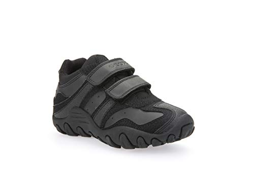 Geox Boys J CRUSH M Sneakers, BLACK, 33 EU