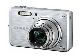 FujiFilm FinePix J100 Digitalkamera (10 Megapixel, 5-fach opt. Zoom, 6,9 cm (2,7 Zoll) Display) silber