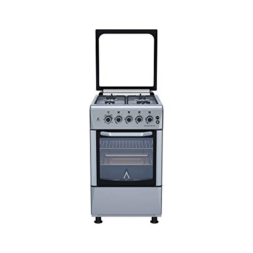 ALPHA Cocina de Gas VULCANO 3D-50 Inox, Encendido automático, corte de gas seguro. **Alta Gama**