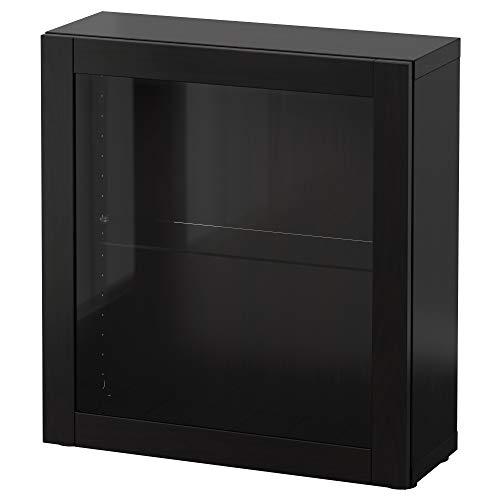 BEST<b regał ze szklanymi drzwiami 60 x 20 x 64 cm Sindvik czarno-brązowy