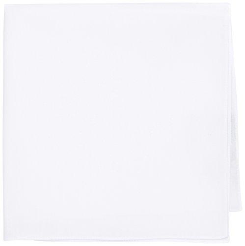 HUGO Herren Pocketsquare Einstecktuch, Weiß (Open White 199), One size