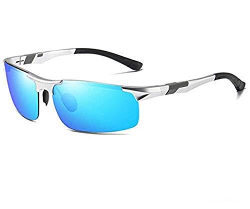 YUEHUA Intelligente farbwechselnde Sonnenbrille Herren Sonnenbrille polarisierte Fahrbrille Fahrer Nachtsic (Blau polarisierte Linsen)