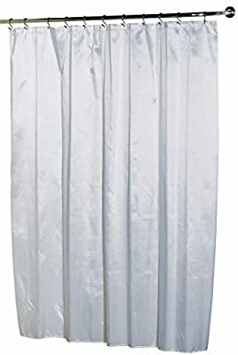 "Ben & Jonah Lauren Dobby Fabric Shower Curtain, 100% Polyester, Size 70""X72"", White Splash Collection by Ben&Jonah"
