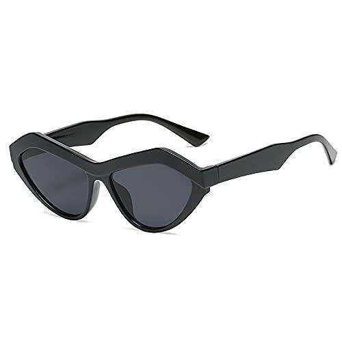 AMFG Gafas de sol poligonales de moda, mujeres y hombres, multicolor, regalo de espejo de conducción. (Color : C)