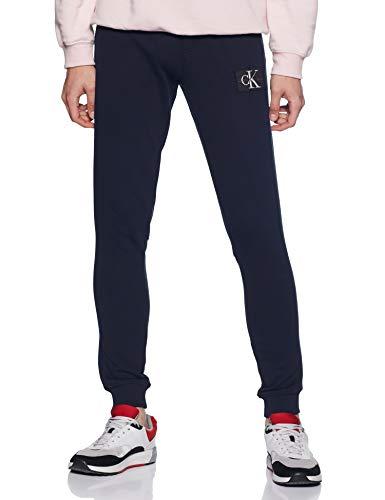 Calvin Klein Jeans Heren Joggingbroek met monogram, Blauw