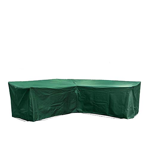 dDanke 182x238cm Green Polyester Waterproof Dust-proof Durable L Shape Sofa Cover Outdoor Patio Garden Furniture Cover