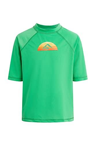 Kanu Surf Boys' Haywire UPF 50+ Sun Protective Rashguard Swim Shirt, Bermuda Green, 3T