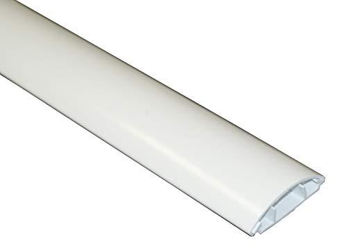 Design Kabelkanal 3,98€/m designkanal reinweiß, 2m, halbrund, PVC Kanal