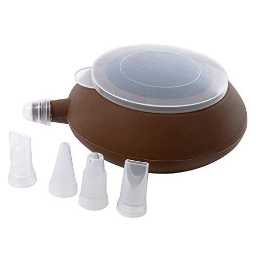 Samtlan Silicone Passepoil Pot Stylo à Pâtisserie Crème Muffin 4 Buse Set Macarons Kit de Pâtisserie