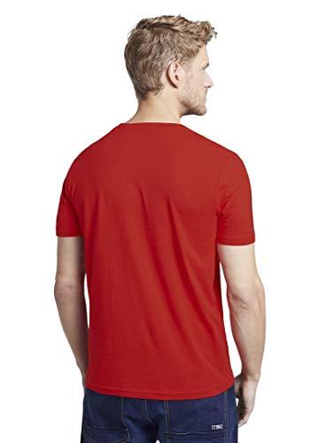 Tom Tailor Logo T-Shirt Camiseta, 12880, XL para Hombre