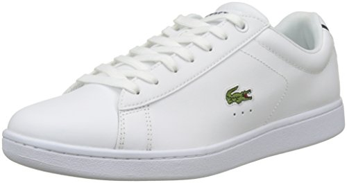 Lacoste Carnaby EVO BL 1 SPM, Zapatillas para Hombre, Blanco (White), 43 EU