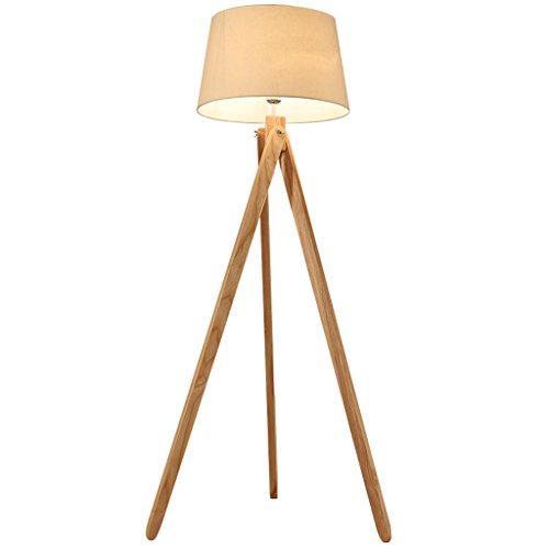 Tyannan Nórdica de madera Lámpara de Creative Living Sala de Estudio dormitorio de noche de madera Lámpara de pie trípode