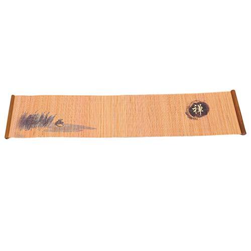 VWH Tapis De Table à Thé Rideau En Bambou Résistant à La Chaleur Accessoires De Thé pour Table à Manger De Cuisine(D)