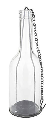 VBS Windlicht-Flasche Glas H: 22 cm mit Hängekette