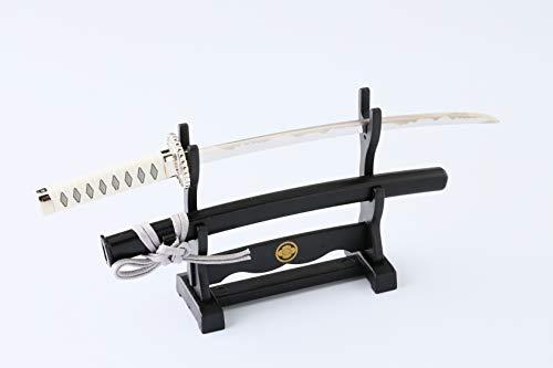 Nummer Elf [Reborn : KATANA] - the spirit of Samurai - Japanischer Brieföffner Samurai Schwert Made in Japan (Horizontal) (Weiß&Platinum) Okita-Souji model