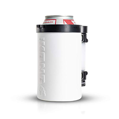 The Kong 2.0. A Portable Can or Bottle Cooler/Cup With A Detachable, Expandable, Hose To Funnel Your Drink. (White)