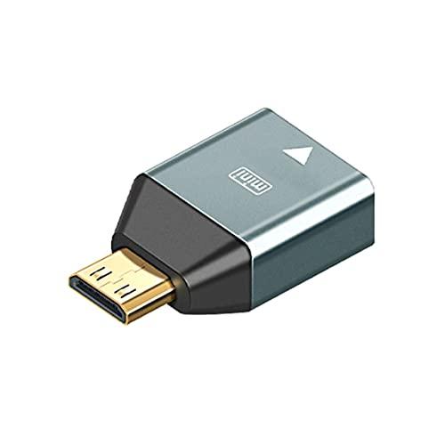 Petrichori Hembra Compatible con Hdmi (Estándar) Mini Micro Macho Compatible con Hdmi hasta 4K @ 60Hz Adaptador Estable Resistente