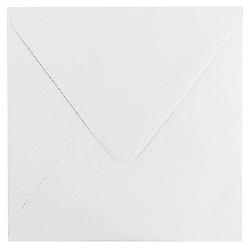 Sobres, 17 x 17 cm, color blanco, goma, 100 unidades Sobres   alta calidad: 120 g/m², KUVERT, 63414 - Sobres, - Sobres para tarjetas de felicitación, invitaciones, tarjetas de cumpleaños