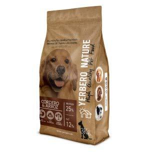 YERBERO Nature, lam en rijst, Premium hondenvoer 3 kg