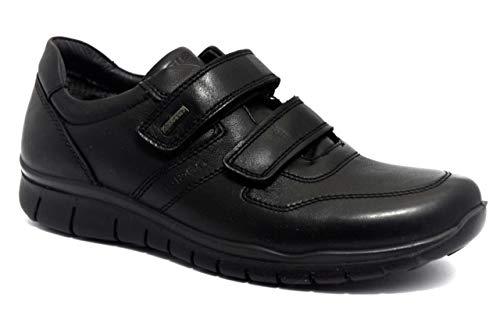 IGI&CO 4117500 - Zapatos para Hombre, Estilo Casual, Deportivos, de Piel, Gore-Tex Negro Size: 43 EU