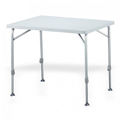 Table pliante ovale léger en aluminium-bois robuste aLUMINIUMGESTEL excentrique-verrouillage-table de camping-rouge - 130 x 90 cm-coloris : gris clair-hauteur réglable de 58 à 72 cm/28 mm pour les produits ® châssis en aluminium-sTABIELO holly sunshade--