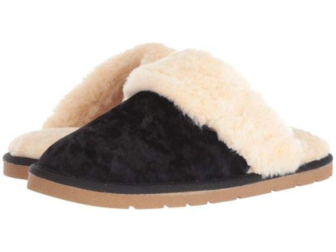 取得する戦艦伝染病Lamo(ラモ) レディース 女性用 シューズ 靴 スリッパ Scuff - Black Velvet [並行輸入品]