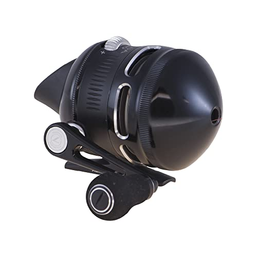 Zebco Omega Pro Spincast Fishing Reel, Size 30 Reel, Changeable Right or Left-Hand Retrieve, Pre-Spooled with 10-Pound Zebco Fishing Line, Aluminum and Double Anodized Front Cover, Black