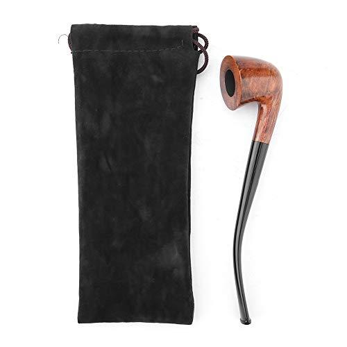 Liyeehao Pipa per Tabacco Lunga, Pipa per Tabacco con Filtro con Anima in Ferro da 3 mm in Legno con qualità Superiore per Accessori per Pipa per Uomo e Adulto