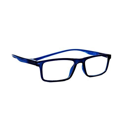 Klass Occhiali da lettura con calamita Uomo/Donna per Presbiopia (blu, 1.50)