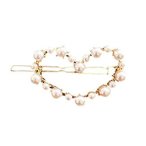 Haarnadeln/Dorical Damen Haarspange Süße mit Perlen Haarklammer Haarspiralen Braut Hochzeit Haarschmuck Accessoires/Geburtstags Geschenk Haarschmuck für Mama Frauen Mädchen(B)