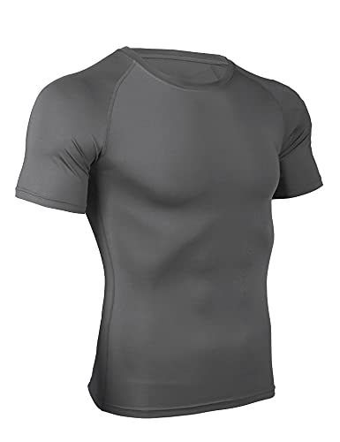 Wayleb T-Shirt Compresión Hombre Camiseta de Manga Corta Hombre Camisetas Deportivos Hombre Transpirable Seco RáPido T-Shirts para Correr Ejercicio Gimnasio Ciclismo Casuale