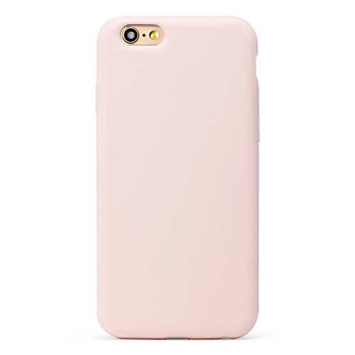 MUNDULEA Matte Soft TPU Protective Cover Compatible iPhone 6/iPhone 6s Case (Pink)