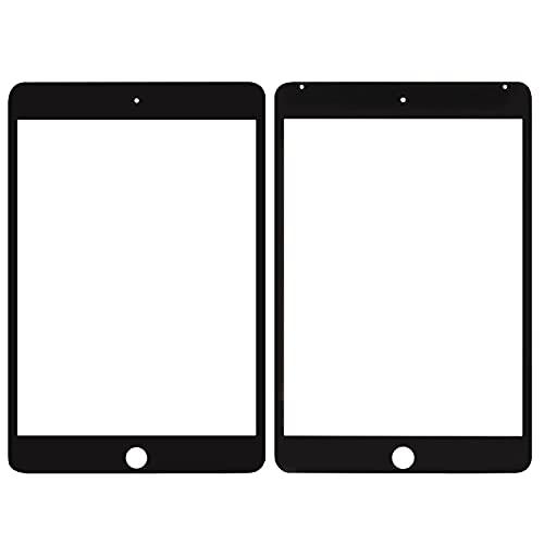 SRJTEK Compatible para IPad MINI 4 Panel de vidrio exterior Pieza de repuesto MINI4 A1550 Pantalla de lente para kits de reparación A1538 (no LCD, no pantalla táctil) (negro)