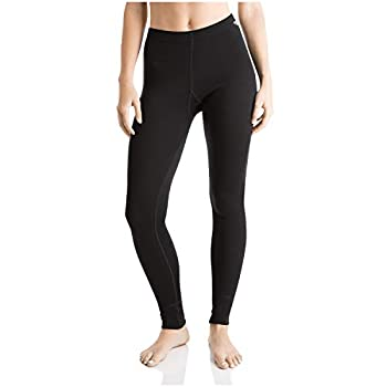 MERIWOOL Womens Merino Wool Base Layer Thermal Pants Black