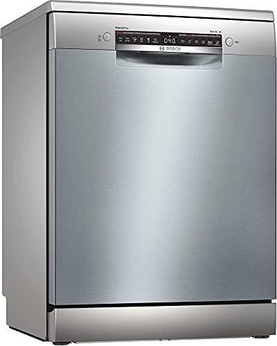 Bosch Electrodomésticos SMS4HCI52E Serie 4 Lavavajillas de libre posicionamiento, 60 cm, color inoxidable