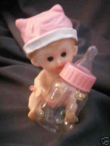 Check Out This 6 Girl Babies with fillable Baby Bottle Shower Favor_Hyde