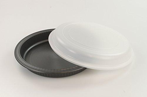 TUPPERWARE UltraPro Kuchenform grau + Deckel weiß Kuchen Form Backen