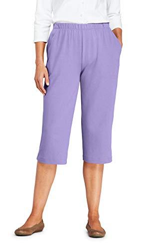 Lands' End Women s Sport Knit Capri Pants Lavender Cloud Regular Large