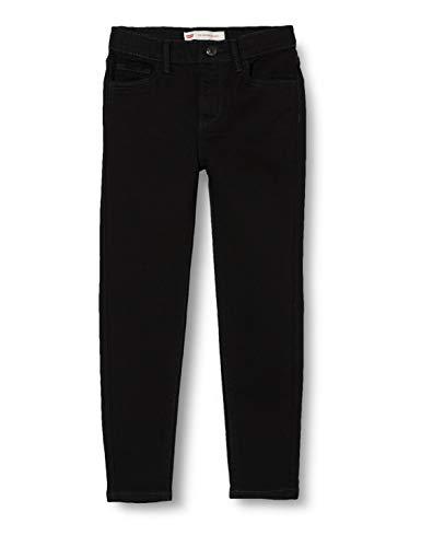 Levi's Kids Lvg 710 Super Skinny Jean Jeans - Mädchen Rinsed Black 14 Jahre