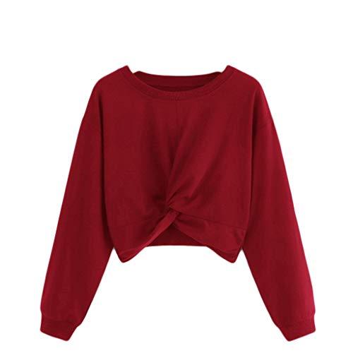 Luckycat Mujer Sudadera sin Capucha 2019 Suelta Tallas Grandes Jersey De Mujer Jersey Otoño Manga Larga Sudadera con Capucha para Fanáticos Sudadera Ombligo Ligera Camiseta para Mujer Adolescentes