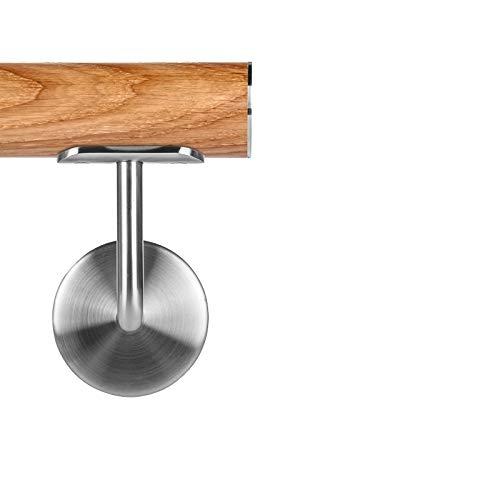 Dachb/öden 3-6 m Wandhalterung Rutschfester Handlauf aus Holz Garagentreppen geeignet f/ür Bars Gel/änder