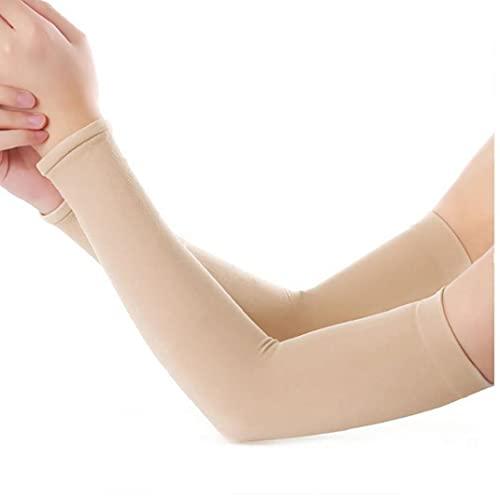 Ruluti Mangas del Brazo Protección UV para La Refrigeración De Conducción Campo De Baloncesto Bloqueador Solar Manopla Protectora Hombres Mujeres Cubiertas De Tatuajes (Color De La Piel)