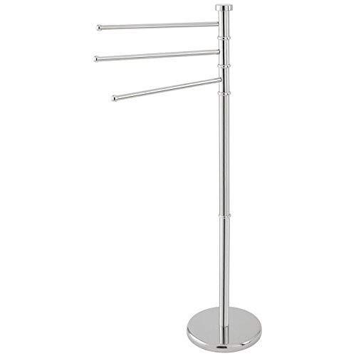 Feridras 906002 - Toallero de pie con 3 Brazos, Cromado, 6 x 23 x 37 cm
