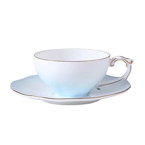 SXXYTCWL Taza de café de la Taza de café Taza de té Rojo de la Tarde y platillo Conjunto para el hogar Cafetería de café Cappuccino Latte Garland Cup